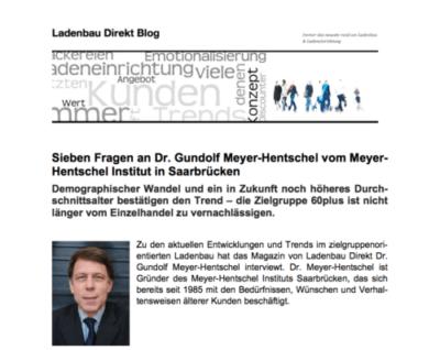 Ladenbau-Direkt: Interview mit Gundolf Meyer-Hentschel