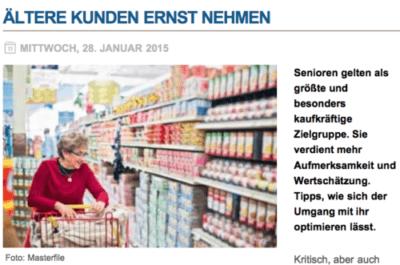 MARKANT Magazin Ältere Kunden Ernst nehmen DOWNLOAD Ladenbau